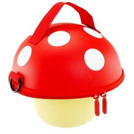 送料無料 Mashroom ハンドバッグ 赤 きのこ型ショルダーバッグ マッシュルーム ハードケースきのこポーチ コインケース Ha322