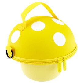 送料無料 Mashroom ハンドバッグ 黄 きのこ型ショルダーバッグ マッシュルーム ハードケースきのこポーチ コインケース Ha321