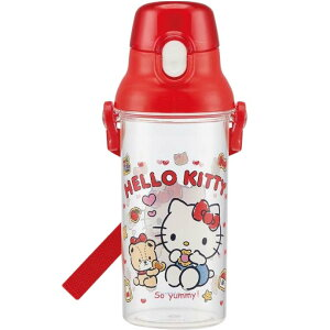 送料無料 ハローキティ クッキー 直飲み透明ボトル 水筒 PSB5TR キャラクターグッズ お子様用水筒 食洗機OKマグボトル Sk335