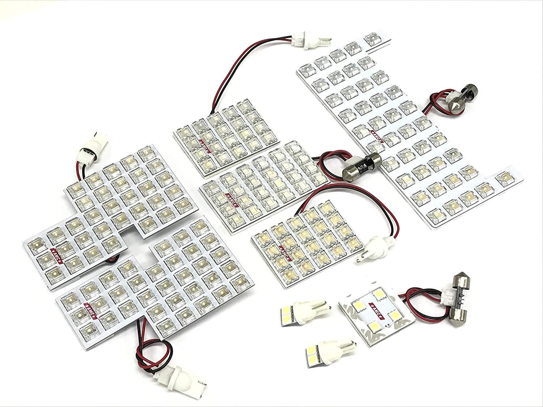 ノア ヴォクシー 70系 LEDルームランプ(大型用)  ナンバー灯付きで大人気 豪華9点 LED180連 ZRR70系 大型ランプ車用 AMC【メール便(ネコポス)は送料無料】yys