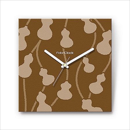 壁掛け 時計 おしゃれ 【FabriClock】 ファブリクロック/ひょうたん/FCM-PL-009 ウォールクロック 掛け時計 アンティーク インテリア デザイナーズ ファブリック 布 人気 モダン 子供部屋