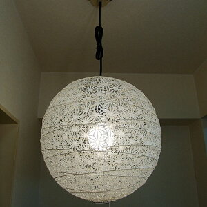 【クーポンで5%OFF】 ペンダントライト TP-1811 直径45cm 花麻 林工芸 FORES | 照明器具 照明 天井照明 ペンダント ライト ランプ 吊り下げ 日本製 和紙 ランプシェード 提灯 100W E26 和室 寝室 玄関