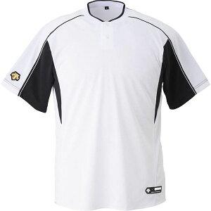 [DESCENTE]デサント2ボタンベースボールシャツ(DB104B)(SWBK)