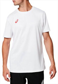 【1枚までメール便可】[asics]アシックストレーニングウェアOP半袖シャツ(2031A664)(100)ブリリアントホワイト×クラシックレッド