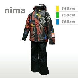 [nima]ニーマジュニア キッズスキーウェア上下セット(JR9004)(75P)レッド