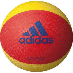[adidas]アディダスソフトバレーボール(AVSRY)赤×黄