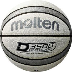[molten]モルテン外用バスケットボール7号球D3500(B7D3500-WS)ホワイト×シルバー