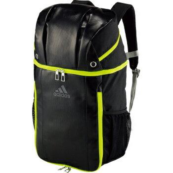 送料無料(※沖縄除く)[adidas]アディダス バックパックボール用デイパック 27L(ADP26BK)ブラック/イエロー