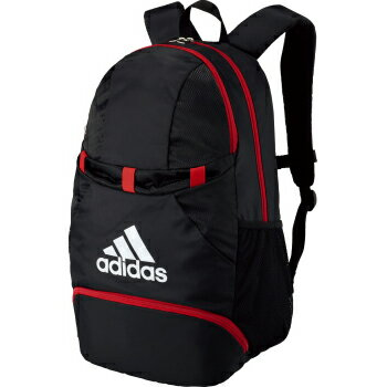 送料無料(※沖縄除く)[adidas]アディダス バックパックボール用デイパック 27L(ADP28BKR)ブラック/レッド