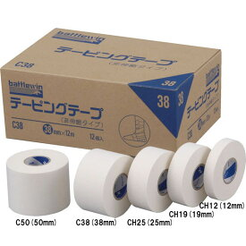 [battlewin]バトルウィン(ニチバン)テーピングテープCタイプ38mm×12m(12個セット)(C38)
