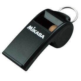 【数量2までメール便可】[Mikasa]ミカサホイッスル コルク入リタイプ ヒモ付(PUL10BK)ブラック
