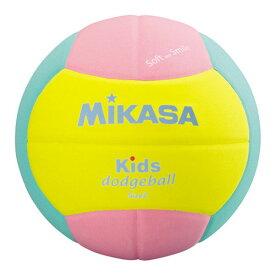 [Mikasa]ミカサスマイルドッジボール 2号球 キッズ用(SD20YP)(00)イエロー/ピンク