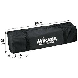 [MIKASA]ミカサ携帯用折り畳み式ボールカゴ(舟型)キャリーケースのみ(AC-CC210-BK)ブラック