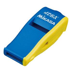 【2点までメール便可】[MIKASA]ミカサドッジボール用ホイッスルビートマスター JDBA公認(BEATDB-BLY)ブルー/イエロー