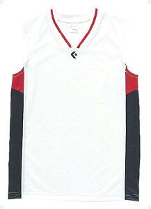 [CONVERSE]コンバースジュニアゲームシャツ(CB54702)(1129)ホワイト/ネイビー