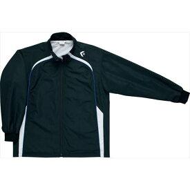 送料無料(※沖縄除く)[CONVERSE]コンバース ジュニアウォームアップジャケット(裾ボックスタイプ)(CB482503S)(1911)ブラック/ホワイト