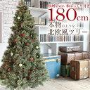 クリスマスツリー 180cm おしゃれ 北欧 松ぼっくり付き 2019年枝増量バージョン ヌードツリー もみの木 1.8m 単品 【…