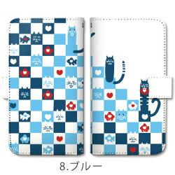スマホケース全機種対応手帳型和柄猫ハート市松模様ケース手帳型ケースiphone7ケースiphone7iphone6Siphone6iphone5iphoneSExperiaXZsXZZ5Z4Z3aquosarrows【送料無料】