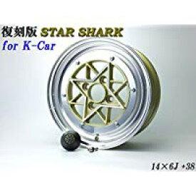 【送料無料】 スターシャーク ゴールド 6J +38 PCD100-4H 2本SET 軽自動車