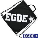 【SALE】EGDE← ナップサック リュックサック Black