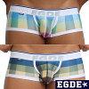 EGDE BLOCK CHECK super low-rise mens boxer underwear
