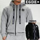 EGDE← SHIELD LOGO サイドライン切り替え スウェットパーカー