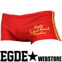 【SALE】EGDE← LINEUP スプラッシュビーチ スイムウェア ボックス水着 Red ランキングお取り寄せ