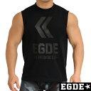EGDE← LT ALL BLACK スリーブレス タンクトップ ノースリーブ