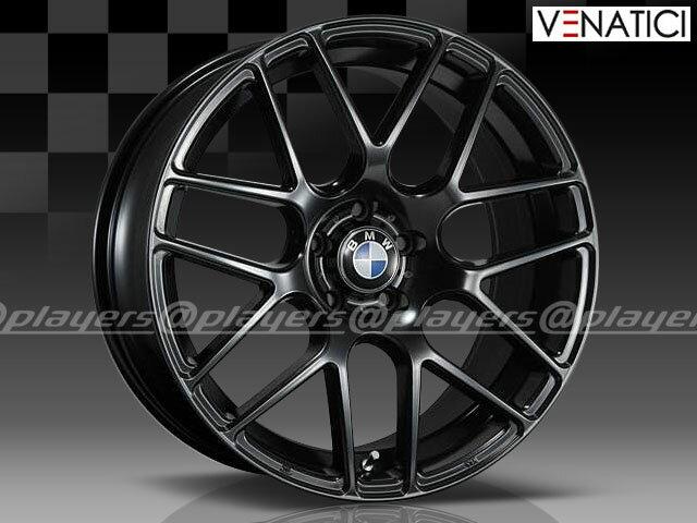 BMW 5シリーズ E60/E61 新品 ヴェナティッチ C-72M 19インチ FR タイヤホイール 245/35R19 275/30R19 BLK 1台分 純正キャップ付き