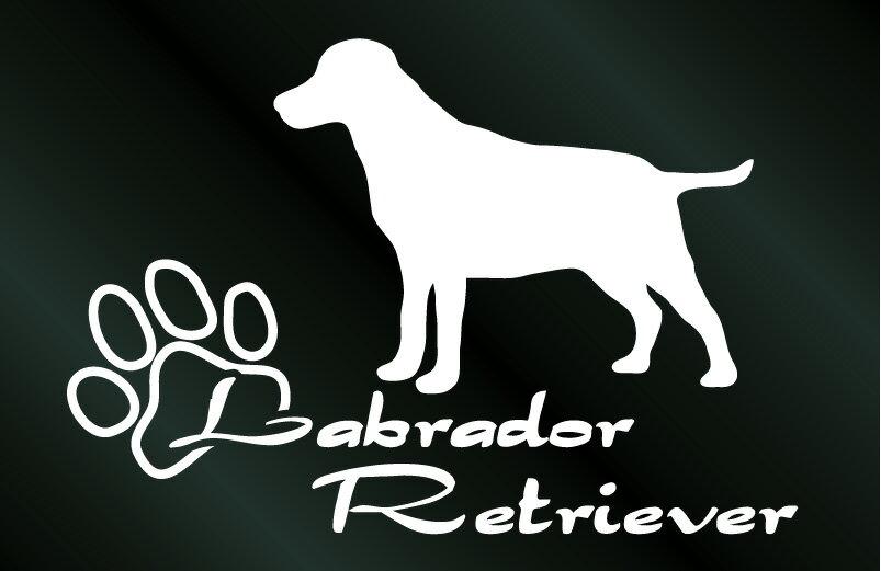 [犬のステッカー]『DOG STICKER』少し大きめのドッグステッカーラブラドールレトリーバー