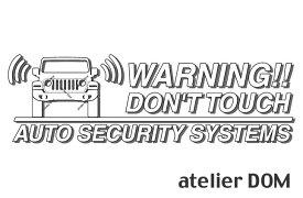 JEEP ジープ・ラングラー JL36S用セキュリティーステッカー3枚セット[ゆうパケット送料無料]アトリエDOMオリジナル[職人手作り]