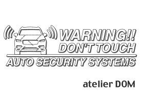 ボルボ XC90 2代目用セキュリティーステッカー3枚セットアトリエDOMオリジナル[職人手作り]
