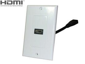 ★ネコポス送料無料★ HDMI Aタイプ メスケーブル 1穴ウォールプレートセット ・Full HD 3D、4K対応