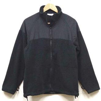 没有美品◆美国军U.S.NAVY fleece茄克口袋的黑色♪军事军物美军陆军户外