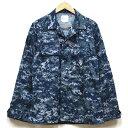 【中古】美品◆実物 米海軍 最新現用 NWU デジタルカモ ジャケット ワッペン無し♪US NAVY アメリカ軍 US 戦闘服 迷彩…