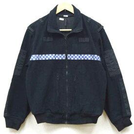 【中古】◆実物 イギリス警察制服 ポリス フリースジャケット ブラック♪ミリタリー 軍物 バイカー セキュリティ