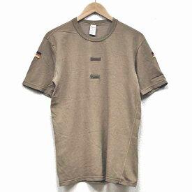 【中古】◆実物 ドイツ軍 国旗ワッペン付き Tシャツ タン♪ミリタリー 砂漠地帯 ユーロ サープラス サバゲ 軍物