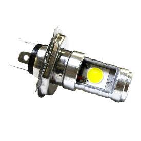 バイク 汎用 LED バルブ H4 ヘッドライト Hi / Lo 12W 12V~80V 直流 交流 兼用 6500K ホワイト