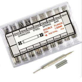5767 ~ 時計 バネ棒 セット パーツ 腕時計 ベルト 交換 コマばね棒 バネ棒 18サイズ 8mm-25mm 18mm 22mm 各約20本 バネ棒はずし