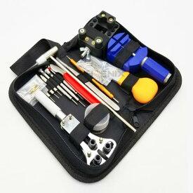 腕時計 修理 キット 工具 セット 備品 道具 ピン メンテナンス 電池交換 自分で ケース付き