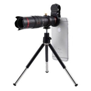 望遠レンズ 22倍 キット スマホ 光学レンズ クリップ式 スマホレンズ 遠距離撮影 ミニ三脚スタンド 収納ポーチ付き ピント調整 簡単装着 iPhone Android