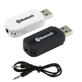 Bluetooth 5.0 レシーバー オーディオ USB AUX ブルートゥース ミュージックレシーバー ワイヤレス iPad/iPhone/スマホなど 2カラー