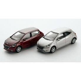 プジョー純正 208 5ドア 3inch ミニカー 2台セット ミニチュアカー 12LETR902