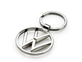 送料無料 VW純正 ロゴ キーホルダー クローム キーリング フォルクス ワーゲン トゥーラン ティグアン ザ・ビートル up! パサート CC