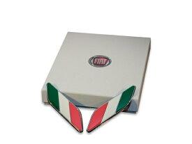 フィアット 500 アバルト 500 純正イタリアンフラッグフェンダーバッジ 50901681