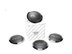 【純正品】Fiat500★フィアット500 チンクエチェント 新品 ホイールセンターキャップ 4個セット ブラック/クローム 正規品 品番:0051884867