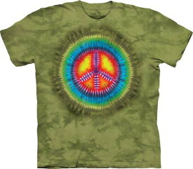 XL-3XLサイズ The Mountain Peace Tie Dye メンズ タイダイ ラブ&ピース メーカー直輸入品 Tシャツ