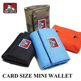 財布 BEN DAVIS ベンデイビス BDW-9312 カードサイズミニ財布 三つ折り財布 コインケース 小銭入れ 小物 CARD SIZE MINI WALLET ネコポス メール便送料無料 新生活 父の日 引っ越し プレゼント