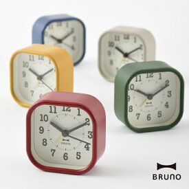 置き時計 BRUNO ブルーノ BCA014 スクエアリトルクロック 置時計 クロック 10倍 新生活 クリスマス 引っ越し プレゼント