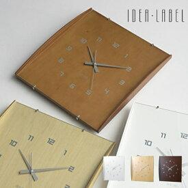 IDEA LABELイデアレーベル 壁掛け時計 LCW027 ウッドガラスクロックグランデ [時計 壁掛け 掛け時計 ウォールクロック おしゃれ デザイン 子供 ギフト 引っ越し 新生活 クリスマス 結婚 祝い 送料無料] 10倍 プレゼント